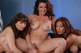 Three Sexy Cougars Share A Young Cock