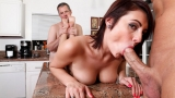Chase shoves a large cock in her husbands face