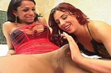 Luciana shemale fucking lady with her big cock