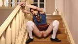 Bound Schoolgirl Pees Herself