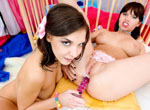 Lara Page loves to play as she gives her an erotic milk enema