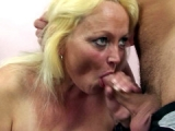 Older Granny eats dick and gets fucked