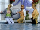 Three Wet Babes Flaunt Their Bods