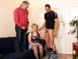 Tag teaming a mature sex crazed hottie
