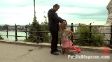 DP and Blowjob for Busty Blonde Isabella Clark Public