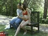 Pregnant Brunette Outdoor Hook Up