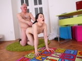 Perverted Old Teacher Gets His Cock Massaged by His Hottie Student