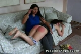 Spanking event on video