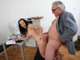 Anastasia tries to get a second chance on her test by sucking cock