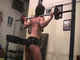 Female Bodybuilder Andrea Furiously Works Out