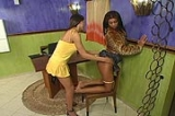 Kelly shemale screwing lady with her big cock