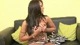 Latino Shemales : Stunning Brunette Shemale Pleasure Herself