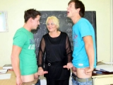 Teacher fantasy and Hot sex with her students