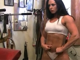 Bodybuilder Ginger Hutchinson Works Out